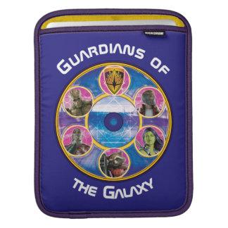 Guardians of the Galaxy | Crew In Neon Circles iPad Sleeve