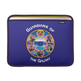 Guardians of the Galaxy | Crew In Neon Circles MacBook Sleeve