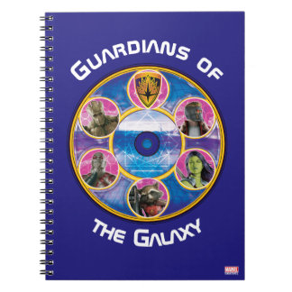 Guardians of the Galaxy | Crew In Neon Circles Notebooks