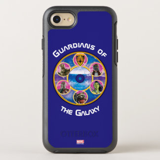 Guardians of the Galaxy | Crew In Neon Circles OtterBox Symmetry iPhone 8/7 Case
