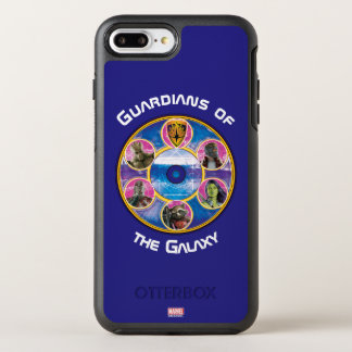 Guardians of the Galaxy | Crew In Neon Circles OtterBox Symmetry iPhone 8 Plus/7 Plus Case