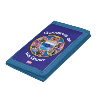 Guardians of the Galaxy | Crew In Neon Circles Tri-fold Wallet