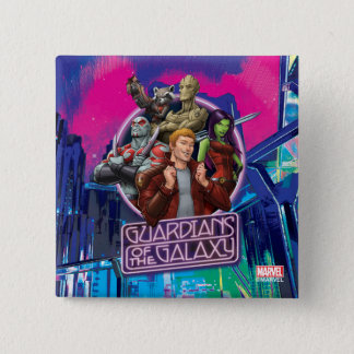 Guardians of the Galaxy | Crew Neon Sign 2 Inch Square Button