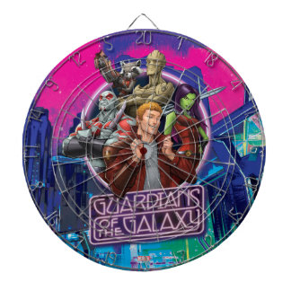 Guardians of the Galaxy | Crew Neon Sign Dartboard