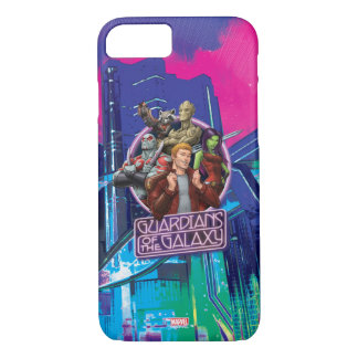 Guardians of the Galaxy | Crew Neon Sign iPhone 8/7 Case