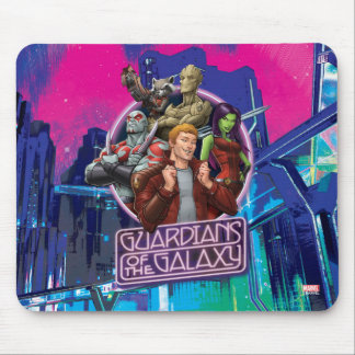 Guardians of the Galaxy | Crew Neon Sign Mouse Pad