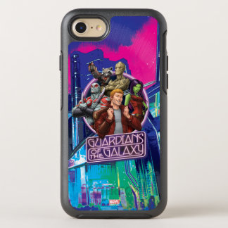 Guardians of the Galaxy | Crew Neon Sign OtterBox Symmetry iPhone 8/7 Case
