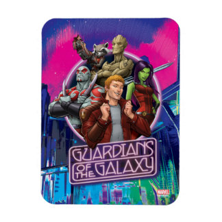 Guardians of the Galaxy   Crew Neon Sign Rectangular Photo Magnet
