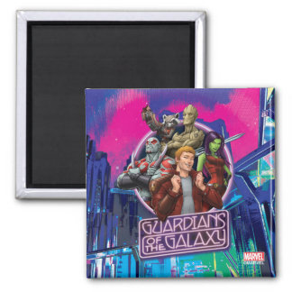 Guardians of the Galaxy   Crew Neon Sign Square Magnet