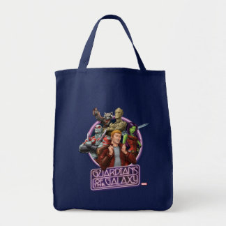 Guardians of the Galaxy   Crew Neon Sign Tote Bag