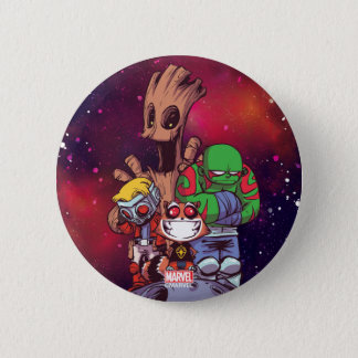 Guardians of the Galaxy | Crew On Asteroid 2 Inch Round Button