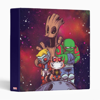 Guardians of the Galaxy | Crew On Asteroid 3 Ring Binder