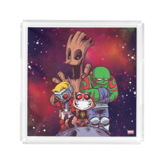 Guardians of the Galaxy | Crew On Asteroid Acrylic Tray