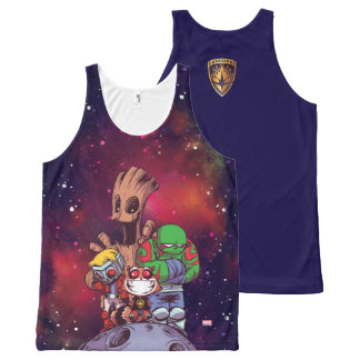Guardians of the Galaxy | Crew On Asteroid All-Over-Print Tank Top