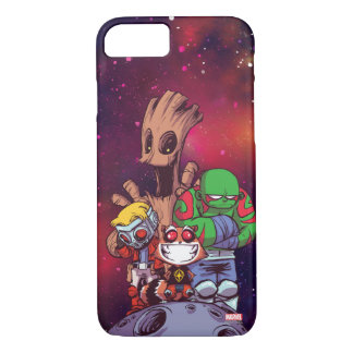 Guardians of the Galaxy | Crew On Asteroid iPhone 8/7 Case
