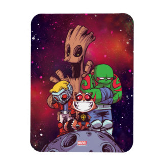 Guardians of the Galaxy | Crew On Asteroid Magnet