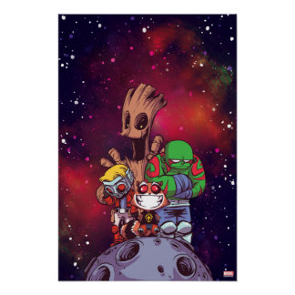 Guardians of the Galaxy | Crew On Asteroid Poster
