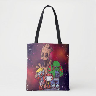 Guardians of the Galaxy | Crew On Asteroid Tote Bag