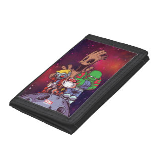 Guardians of the Galaxy | Crew On Asteroid Trifold Wallet