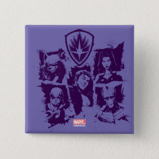 Guardians of the Galaxy | Crew Paint Grid 2 Inch Square Button