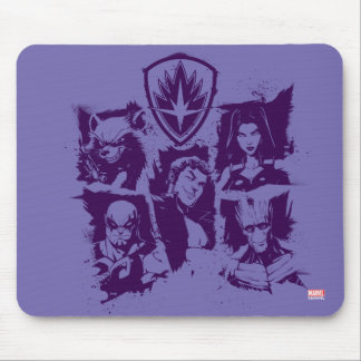 Guardians of the Galaxy | Crew Paint Grid Mouse Pad