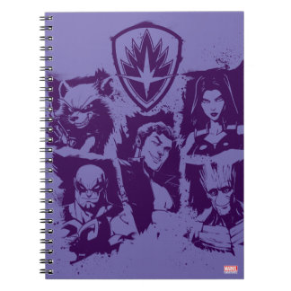 Guardians of the Galaxy | Crew Paint Grid Spiral Notebook