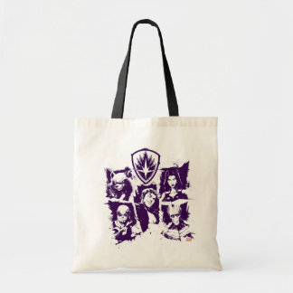 Guardians of the Galaxy   Crew Paint Grid Tote Bag