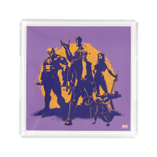 Guardians of the Galaxy | Crew Paint Silhouette Acrylic Tray