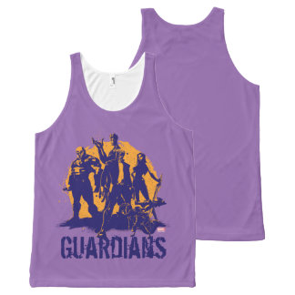 Guardians of the Galaxy | Crew Paint Silhouette All-Over-Print Tank Top