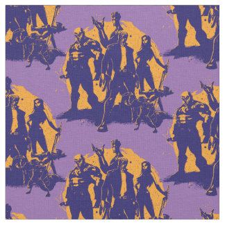 Guardians of the Galaxy | Crew Paint Silhouette Fabric