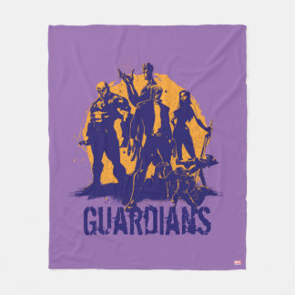 Guardians of the Galaxy | Crew Paint Silhouette Fleece Blanket
