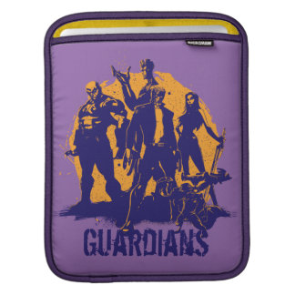 Guardians of the Galaxy   Crew Paint Silhouette iPad Sleeve