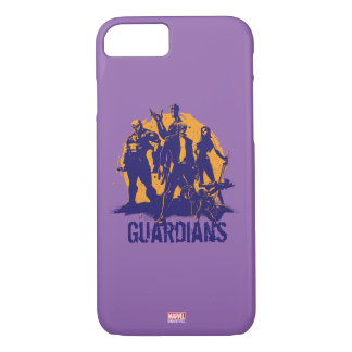 Guardians of the Galaxy | Crew Paint Silhouette iPhone 8/7 Case
