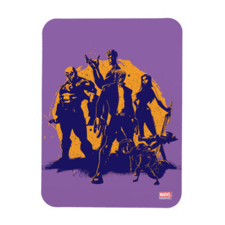 Guardians of the Galaxy   Crew Paint Silhouette Rectangular Photo Magnet