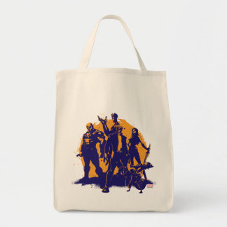 Guardians of the Galaxy   Crew Paint Silhouette Tote Bag