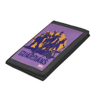 Guardians of the Galaxy | Crew Paint Silhouette Tri-fold Wallets
