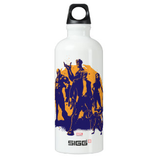 Guardians of the Galaxy | Crew Paint Silhouette Water Bottle