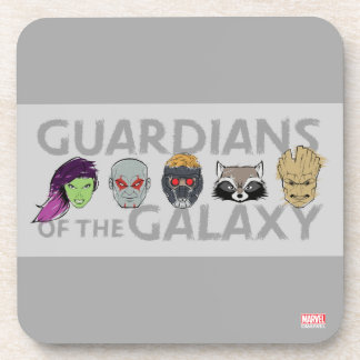Guardians of the Galaxy   Crew Rough Sketch Coaster
