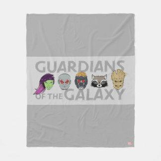 Guardians of the Galaxy | Crew Rough Sketch Fleece Blanket