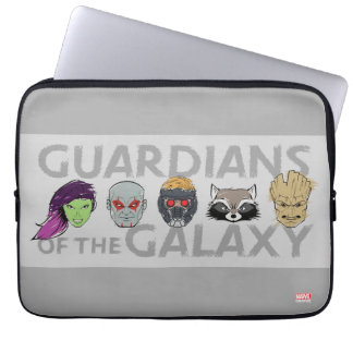 Guardians of the Galaxy   Crew Rough Sketch Laptop Sleeve