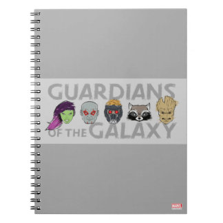 Guardians of the Galaxy | Crew Rough Sketch Spiral Notebook