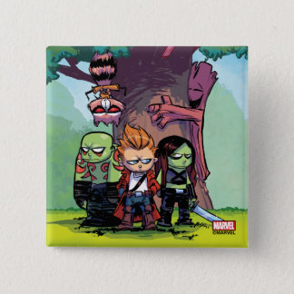 Guardians of the Galaxy | Crew & Treehouse 2 Inch Square Button