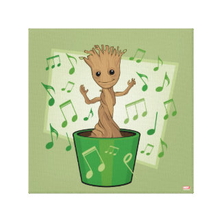 Guardians of the Galaxy | Dancing Baby Groot Canvas Print