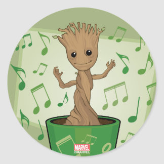 Guardians of the Galaxy | Dancing Baby Groot Round Sticker