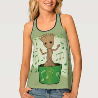 Guardians of the Galaxy | Dancing Baby Groot Tank Top