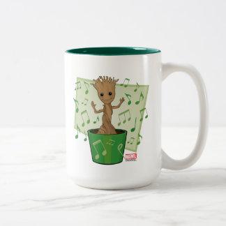 Guardians of the Galaxy | Dancing Baby Groot Two-Tone Coffee Mug