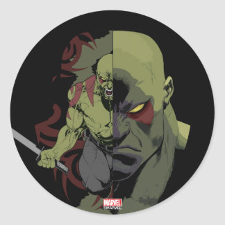 Guardians of the Galaxy | Drax Close-Up Graphic Round Sticker
