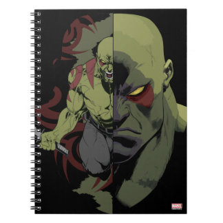 Guardians of the Galaxy | Drax Close-Up Graphic Spiral Notebook