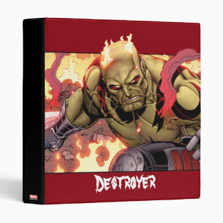Guardians of the Galaxy | Drax In Flames 3 Ring Binder