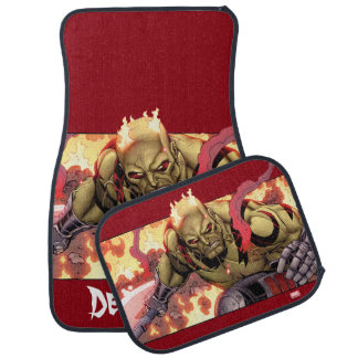 Guardians of the Galaxy   Drax In Flames Car Mat